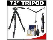 "Davis & Sanford 72"" Magnum XG13 Professional Photo/Video Tripod with Case + W3 Universal Dolly + Accessory Kit"