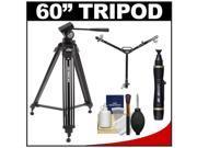 "Davis & Sanford 60"" ProVista 6510 Professional Video Tripod with V10 Head and Case + W3 Universal Dolly + Accessory Kit"