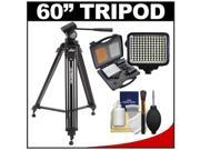 "Davis & Sanford 60"" ProVista 6510 Professional Video Tripod with V10 Head and Case + LED Light Kit + Cleaning Kit"