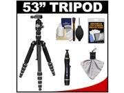 "Davis & Sanford Traverse 53"" Compact Folding Tripod with PB228-10 Ball Head & Case with Cleaning & Accessory Kit"