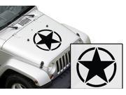 Army Star Hood Vinyl Decal (Fits Jeep models and more) - 20