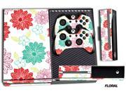 Microsoft Xbox ONE Console Skin plus 2 Controller Skins Floral