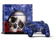Sony PS4 PlayStation 4 Console Skin plus 2 Controller Skins -  Bones Blue