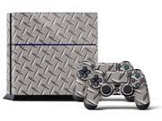 Sony PS4 PlayStation 4 Console Skin plus 2 Controller Skins - Diamond plate
