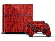 Sony PS4 PlayStation 4 Console Skin plus 2 Controller Skins - Digicamo Red