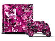 Sony PS4 PlayStation 4 Console Skin plus 2 Controller Skins -  Pink Butterflies
