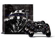 Sony PS4 PlayStation 4 Console Skin plus 2 Controller Skins -  Reaper Black