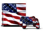 Sony PS4 PlayStation 4 Console Skin plus 2 Controller Skins Stars Stripes