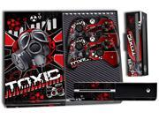 Microsoft Xbox ONE Console Skin plus 2 Controller Skins Toxicity Red