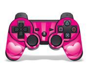 Image of Sony PS3 PlayStation 3 Controller Skin - Hearts Pink