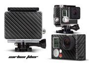 GoPro Hero 3+ Camera & Case Vinyl Skin Decal - Carbon