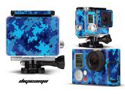 GoPro Hero 3+ Camera & Case Vinyl Skin Decal - Digicamo Blue
