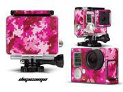 GoPro Hero 3+ Camera & Case Vinyl Skin Decal - Digicamo Pink