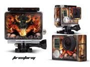 GoPro Hero 3+ Camera & Case Vinyl Skin Decal - Firestorm