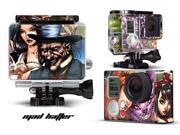 GoPro Hero 3+ Camera & Case Vinyl Skin Decal - Mad Hatter