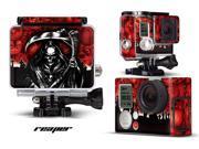 GoPro Hero 3+ Camera & Case Vinyl Skin Decal - Reaper Red