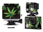 GoPro Hero 3+ Camera & Case Vinyl Skin Decal - Weeds Black