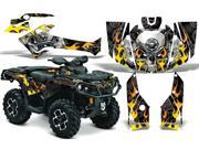 2012 2014 Can Am Outlander SST G2 AMRRACING ATV Graphics Decal Kit Motorhead Black