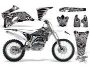 2006 2009 Yamaha YZ 250F^^06 09 YZ 450F AMRRACING MX Graphics Decal Kit Skulls and Hammers White