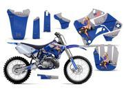 1996 2001 Yamaha YZ 125^^96 01 YZ 250 AMRRACING MX Graphics Decal Kit Bone Collector Black