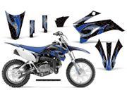 2011 2013 Yamaha TTR 110 AMRRACING MX Graphics Decal Kit Tribal Flames Blue Black