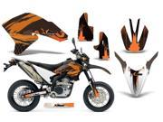 2007 2013 Yamaha WR 250R^^07 13 WR 250X AMRRACING MX Graphics Decal Kit Carbon X Orange