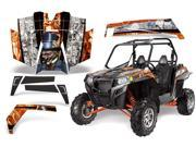 2011 2013 Polaris RZR XP 900 AMRRACING SXS Graphics Decal Kit Mad Hatter Orange White