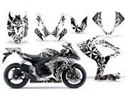 2006 2007 Suzuki GSXR 600^^06 07 GSXR 750 AMRRACING Sport Bike Graphics Decal Kit Northstar White