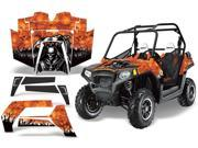 2011 2013 Polaris RZR 800 AMRRACING SXS Graphics Decal Kit Reaper Orange