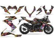 2008 2009 Kawasaki ZX10 AMRRACING Sport Bike Graphics Decal Kit Ed Hardy Love Kills Black