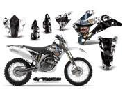 2007 2011 Yamaha WR 250F^^07 11 WR 450F AMRRACING MX Graphics Decal Kit Mad Hatter Black White