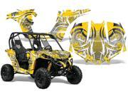 2013 2014 Can Am Maverick AMRRACING SXS Graphics Decal Kit Deaden Yellow