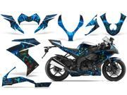 2008 2009 Kawasaki ZX10 AMRRACING Sport Bike Graphics Decal Kit Zombie Trooper Blue