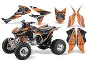 2004 2014 Honda TRX 450R AMRRACING ATV Graphics Decal Kit SilverStar ToxiCity Black Orange