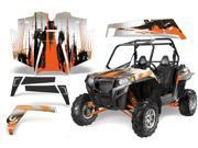 2011 2013 Polaris RZR XP 900 AMRRACING SXS Graphics Decal Kit Cabon X Orange