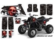 1987 2005 Yamaha Banshee YF 350 AMRRACING ATV Graphics Decal Kit Checkered Skull Red Black