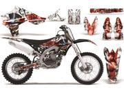 2010 2013 Yamaha YZF 450 AMRRACING MX Graphics Decal Kit Mad Hatter Red White