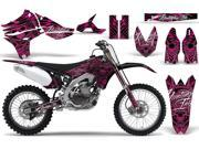 2010 2013 Yamaha YZF 450 AMRRACING MX Graphics Decal Kit Skulls and Hammers Pink
