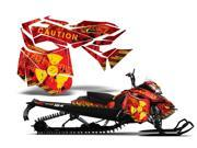 2013 Ski Doo Rev XM AMRRACING Sled Graphics Decal Kit Meltdown Yellow Red