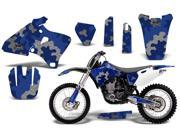 1998 2002 Yamaha YZF 250^^98 02 YZF 400^^98 02 YZF 426 AMRRACING MX Graphics Decal Kit Camo Palte Blue