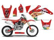 2007 2013 Honda CRF 150R AMRRACING MX Graphics Decal Kit Vegas Baller Red