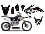 2007 2013 Honda CRF 150R AMRRACING MX Graphics Decal Kit Reloaded White Black
