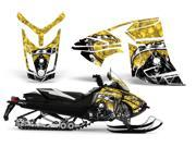 2013 Ski Doo Rex XR AMRRACING Sled Graphics Decal Kit Reaper Yellow