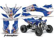 2009 2013 Yamaha YFZ 450R^^09 13 YFZ 450X AMRRACING ATV Graphics Decal Kit T Bomber Blue