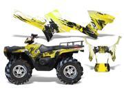 2005 2010 Polaris Sportsman 500^^05 10 Sportsman 800 AMRRACING MX Graphics Decal Kit Carbon X Yellow