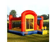 Super Slide Castle Inflatable Mighty Bounce House Jump Bouncer w/out Blower