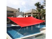 10 x15 Deluxe Rectangle Sun Shade Sail UV Top Outdoor Canopy Patio Lawn