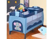 Portable Infant Baby Blue Crib Playpen Bassinet Bed