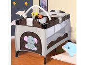 Portable Infant Baby Coffee Crib Playpen Bassinet Bed