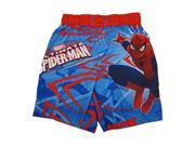 Marvels Little Boys Red Blue Ultimate Spiderman Adjustable Swim Shorts 3T 9SIA4363SR2547
